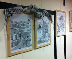 Un po' deludente la mostra di Sacco alla Casa delle culture e della pace: meglio gli originali di Le Roy e degli ospiti palestinesi di questi stamponi